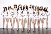 Korean pop girl group Girls' Generation.