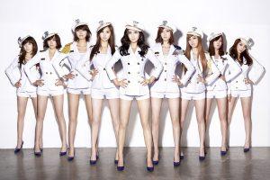 Korean pop girl group Girls' Generation.