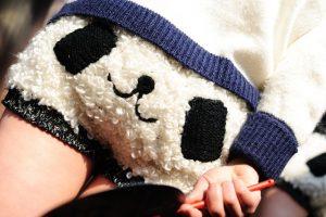 Panda shorts in Shanghai, China.