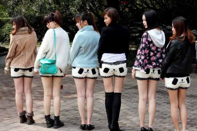 chinese girls in shorts