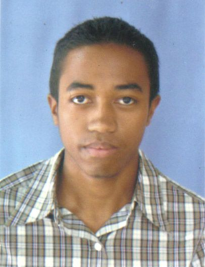 A young African-Chinese multiracial man.