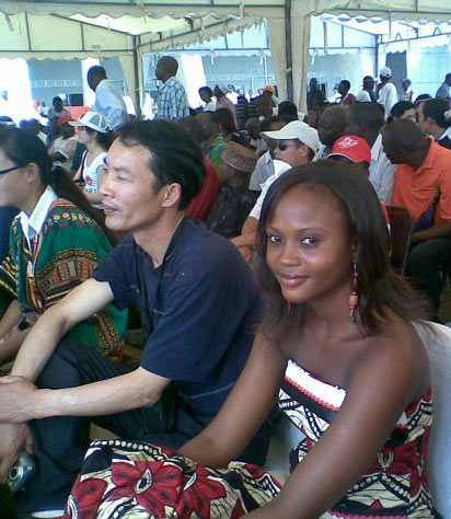 Chinese man with Angola wife.