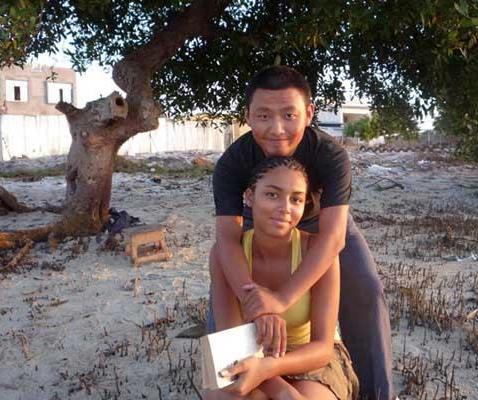 Asian man black woman sex