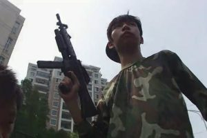 Chinese high school students in Jingzhou Hubei province make a video where they blow up their school.