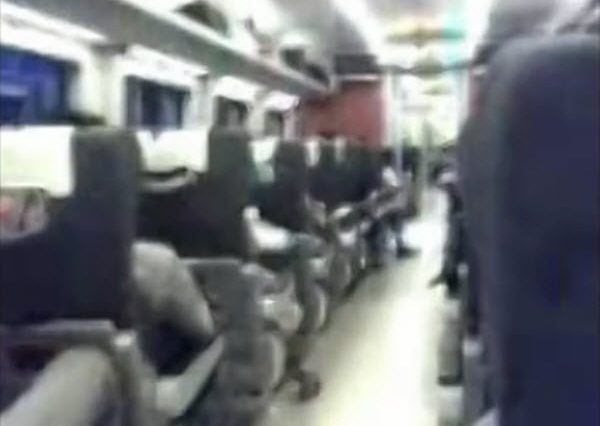 A video purporting to be the inside of car #16 of the D3115 train involved the 7/23 Wenzhou high speed train accident.