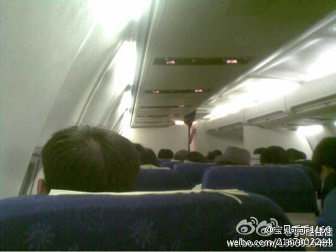 Infamous Railway Ministry spokesperson Wang Yongping in first class flight back to Beijing.