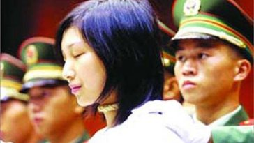Drug trafficker Tao Jing in court.