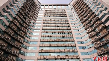 """Fuzhou's """"Most Awesome Wall of Air Conditioners""""."""