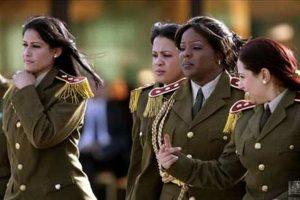 Gaddafi's Amazonian Guard aka The Revolutionary Nuns or The Green Nuns.