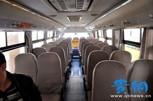 "Guiyang's ""American-style school buses"" are reserved for transporting teachers to and from work instead of carrying schoolchildren."