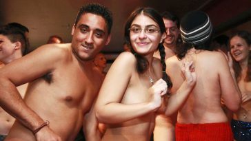 Young New Yorkers at a Naked Party in Soho.