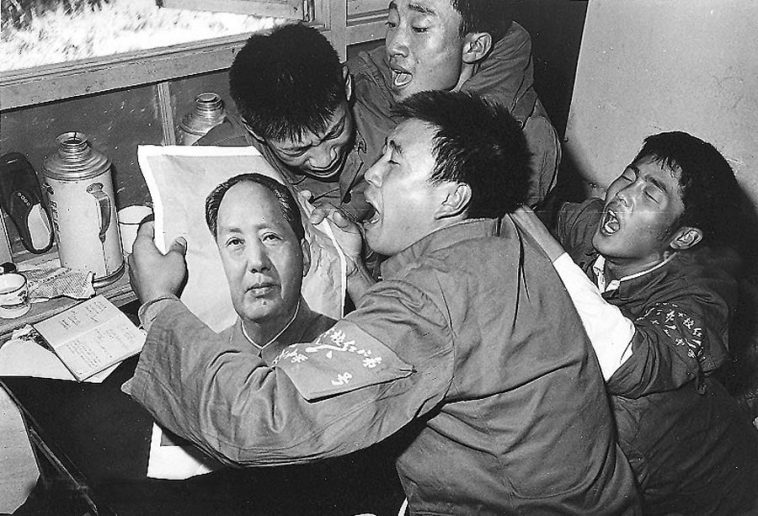 Chinese in tears mourning the death of former PRC leader Mao Zedong.