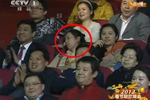 """Sleeping Sister"", a Chinese woman caught on camera sound asleep in the audience for the annual Spring Festival Gala."