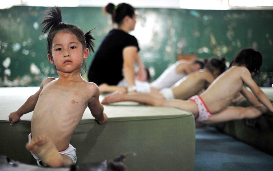 Chinese Gymnastics Kids: Training with Tears, Sweat, & Dreams