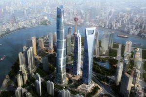 Lujiazui, Shanghai skyscrapers.