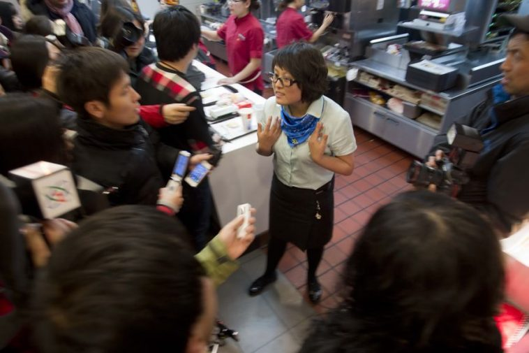 Beijing McDonald's manager responds to media.