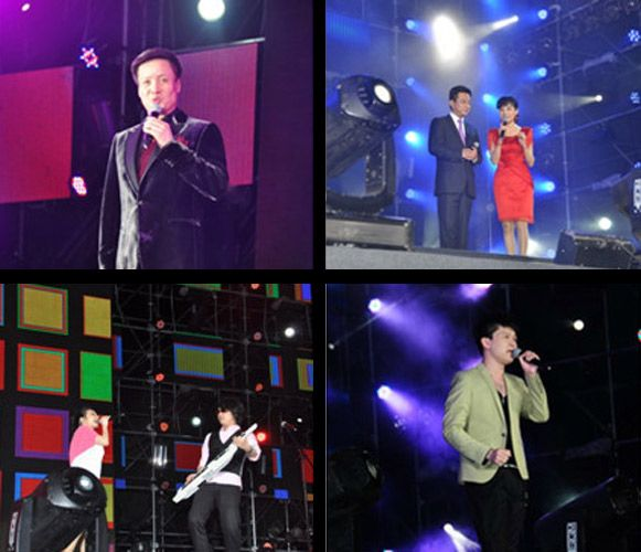 Photos of performances by celebrities at a 70 million RMB wedding.