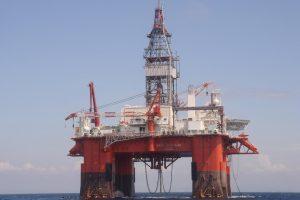 Oil platform.