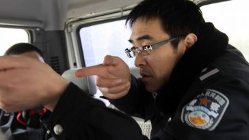A Chinese police officer recounts how they hunted and shot dead a grey wolf.