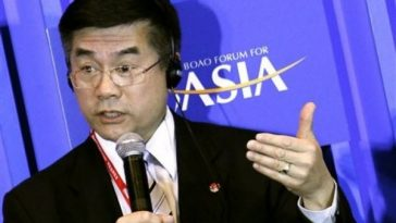 American Ambassador Gary Locke at the Boao Forum for Asia.