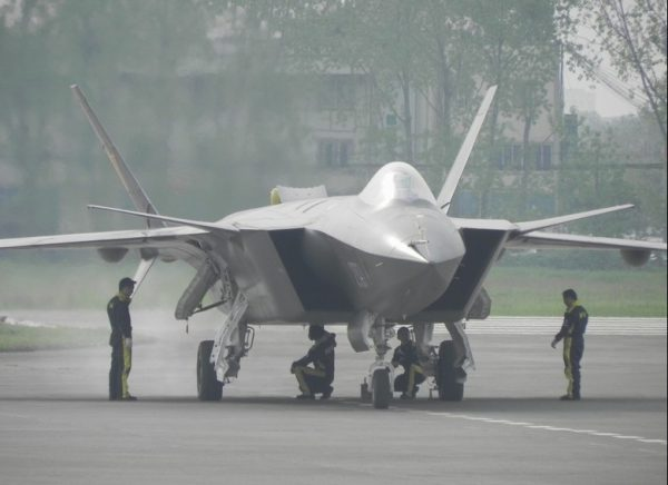 China's J20 fifth generation fighter.