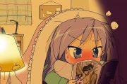 Fujoshi girl reading yaoi boys love novel.