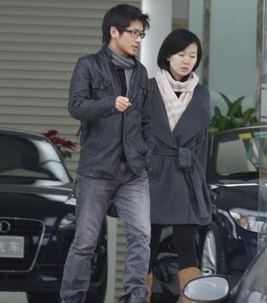 Han Han and his wife Jin Lihua