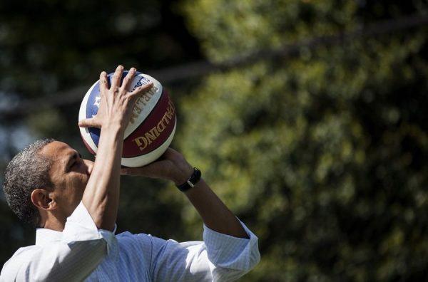 Obama is preparing to shoot.