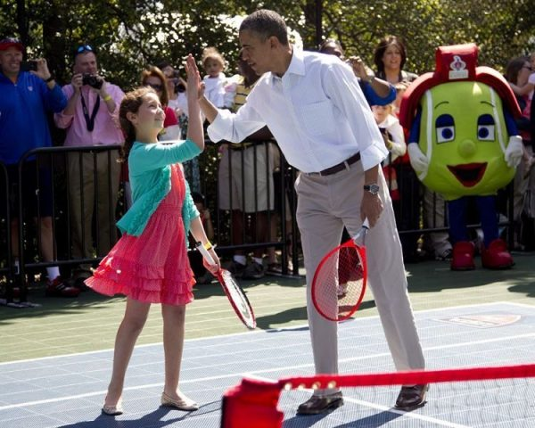Obama is teaming up with 9-year-old Isabella.