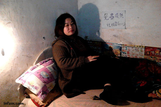 A Chinese woman working in a 10 RMB brothel.