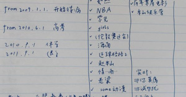 A list of reasons to live or die made by a 19-year-old Chinese university student who ultimately jumped off a builty to commit suicide.