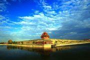 Beijing with blue skies.