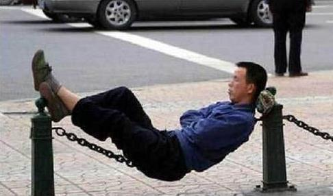 sleeping on the iron chain