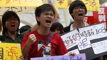 2012 May 1 International Workers' Day demonstrations and protests in Taiwan.