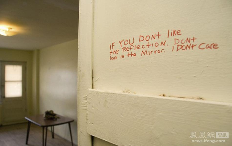 Mensaje dejado por Luka Magnotta en el interior del armario