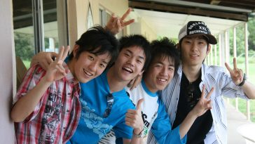 Japanese high school boys.