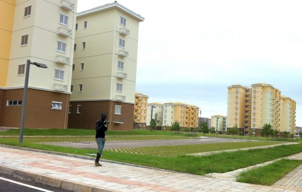 Kilamba in Africa's Angola, a massive 3.5 billion USD Chinese housing construction project, allegedly now still a ghost town despite completion.