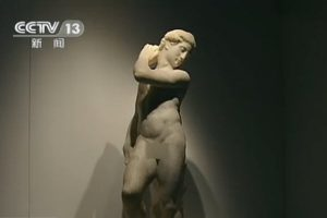 China's CCTV News censored the genitals on Michelangelo's famous nude sculpture of David, only to remove the censorship 4 hours later during a rebroadcast following an outcry online by Chinese netizens.