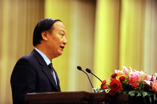 Director He Ping of China's Ministry of Human Resources and Social Security.