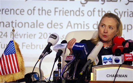 Hillary Clinton at the Friends of the Syrian People Conference