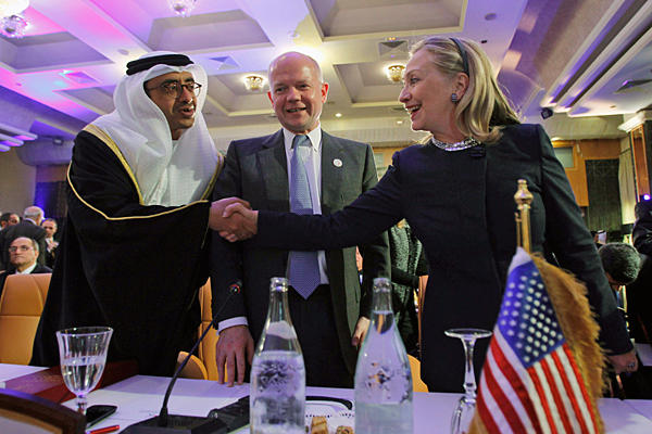 Hillary Clinton with other leaders