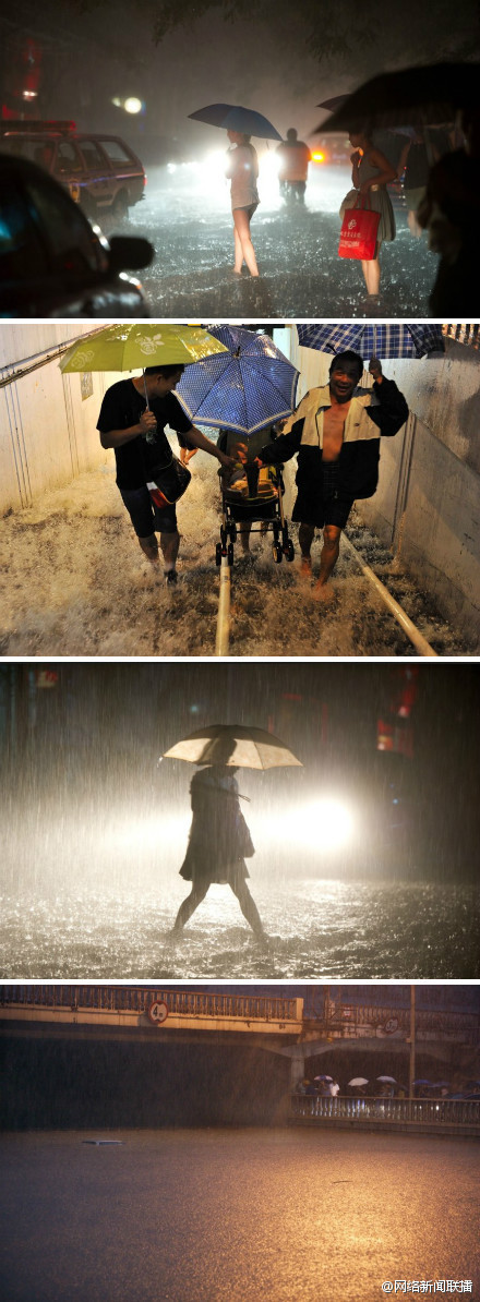 The Beijing rainstorm.