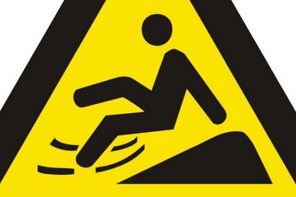 Warning slippery sign.