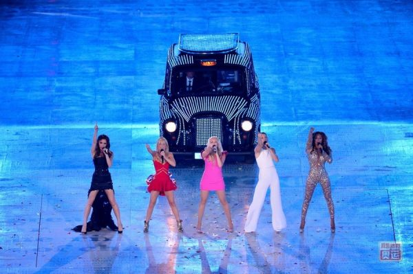 Spice Girls reunited at the 2012 London Olympic Games Closing Ceremony.