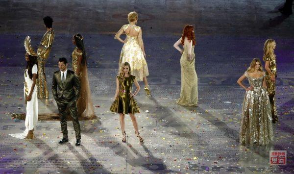 2012 London Olympics closing ceremony fashion show and catwalk.