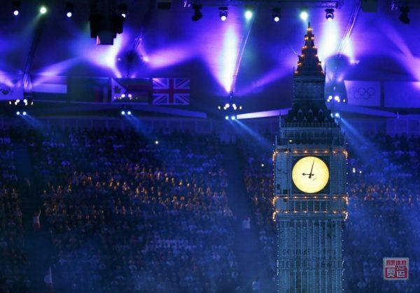 2012 London Olympic Games Closing Ceremony, Big Ben.