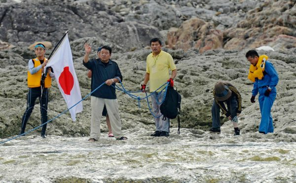 The right-wingers who have landed on the Diaoyu Islands.