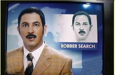 Robber and news anchor look alike