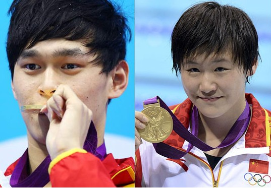 Sun Yang and Ye Shiwen