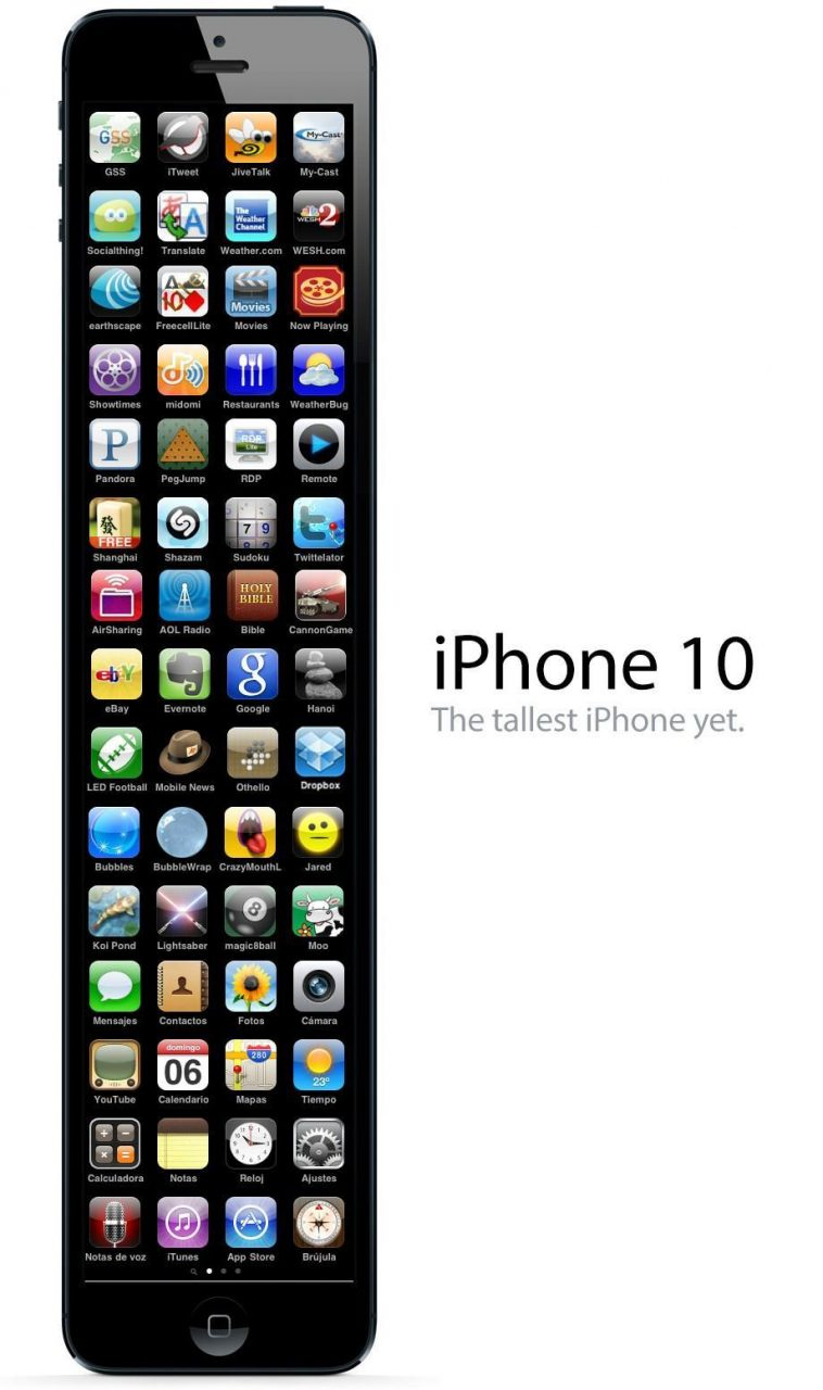iPhone 10: The tallest iPhone yet photoshop.